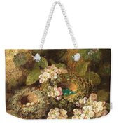 Primroses And Bird's Nests On A Mossy Bank Weekender Tote Bag