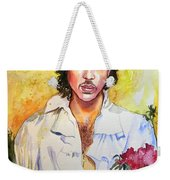 Prince Rogers Nelson Holding A Rose Weekender Tote Bag