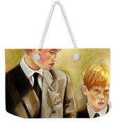 Prince William And Prince Harry Weekender Tote Bag