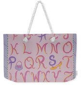 Princess Alphabet Weekender Tote Bag