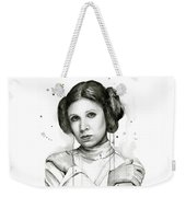 Princess Leia Portrait Carrie Fisher Art Weekender Tote Bag by Olga Shvartsur