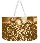 Print Industry Typographic Letters And Numbers Weekender Tote Bag