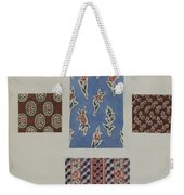 Printed Cotton Weekender Tote Bag