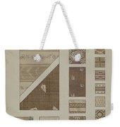 Printed Cotton Weekender Tote Bag