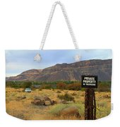 Private Property Weekender Tote Bag