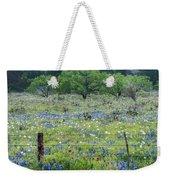 Private Property -wildflowers Of Texas. Weekender Tote Bag