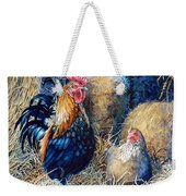 Prized Rooster Weekender Tote Bag by Hanne Lore Koehler