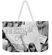 Pro-choice Rally, 1976 Weekender Tote Bag
