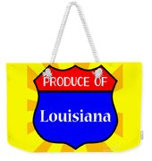 Produce Of Louisiana Shield Weekender Tote Bag
