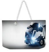 Professional Cargo Delivery Truck With Long Trailer. Banner Weekender Tote Bag