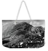Profile Hawaiian Sea Turtle Bw Weekender Tote Bag