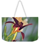 Profile Of A Day Lily Weekender Tote Bag