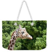 Profile Of A Giraffe Weekender Tote Bag