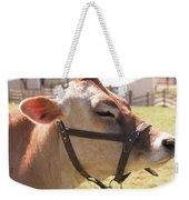 Profile Of Brown Cow Weekender Tote Bag
