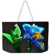 Profile Of Glass Flowers Weekender Tote Bag