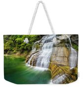 Profile Of The Lower Falls At Enfield Glen Weekender Tote Bag