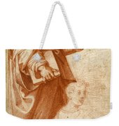 Profile Study Of A Standing Saint Holding A Book With Subsidiary Studies Of Three Additional Figures Weekender Tote Bag