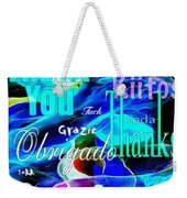 Profound Thought Celebrate Life Pink Weekender Tote Bag