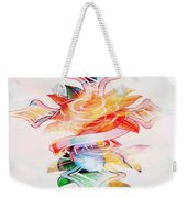 Profound Thought Cross And Roses Weekender Tote Bag