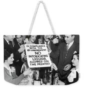 Prohibition Ends Let's Party Weekender Tote Bag