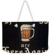 Prohibition: Repeal, C1933 Weekender Tote Bag