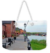Promenade And Boats At Barton Marina Weekender Tote Bag