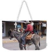 Prospector Re-enactor With Fan Allen Street Tombstone Arizona 200 Weekender Tote Bag
