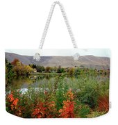 Prosser Autumn River With Hills Weekender Tote Bag by Carol Groenen
