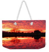 Dramatic Orange Sunset Weekender Tote Bag