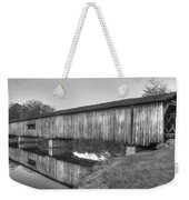 Protection That Works Historic Watson Mill Covered Bridge Weekender Tote Bag