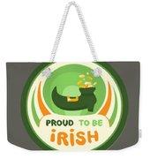 Proud To Be Irish Weekender Tote Bag