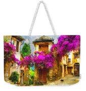 Provence Street Weekender Tote Bag