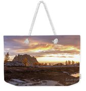 Prusik Peak Golden Cloudscape Weekender Tote Bag