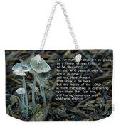 Psalm 103 Temporary And Eternal Weekender Tote Bag