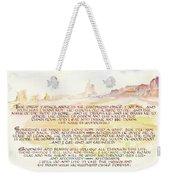 Psalm 23 Navajo Version  Weekender Tote Bag