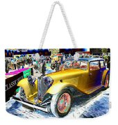 Psychedelic 1930 Jaguar Ss1 At London Classic Car Show 2015 Weekender Tote Bag
