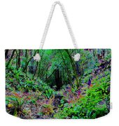 Psychedelic Fern Gully On Mt Tamalpais Weekender Tote Bag