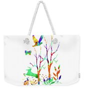 Psychedelic Forest Weekender Tote Bag