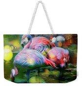 Psychedelic Ibis Weekender Tote Bag