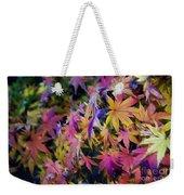 Psychedelic Maple Weekender Tote Bag by Kaye Menner