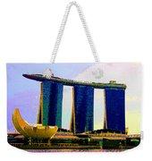 Psychedelic Marina Bay Sands Hotel Singapore Weekender Tote Bag