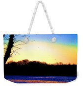 Psychedelic Sunrise On The Delaware River Weekender Tote Bag