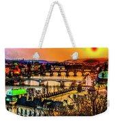 Psychedelic Sunset Art Weekender Tote Bag