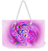 Psychedelic Swirls On Lollypop Pink Weekender Tote Bag