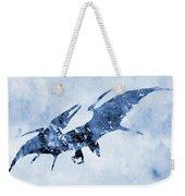 Pterodactyl-blue Weekender Tote Bag