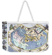 Ptolemaic World Map, 1493 Weekender Tote Bag