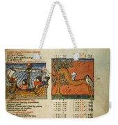 Ptolemy: Almagest, 1490 Weekender Tote Bag