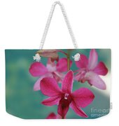 Puanani Kealoha Dendrobium D Burana Red Flame Hawaiian Orchid Weekender Tote Bag