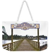 Public Fishing Pier Weekender Tote Bag