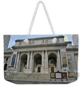 Public Library New York City Weekender Tote Bag